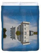 Topsail Island Tower Reflection Duvet Cover