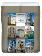 Topsail Island Towers Duvet Cover
