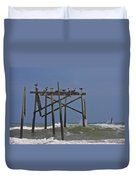 Topsail Ocean City Pelicans Duvet Cover