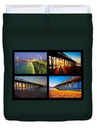 Topsail Piers At Sunrise Duvet Cover