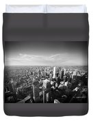 Toronto From Above Duvet Cover