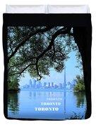 Toronto Harbour Poster Duvet Cover