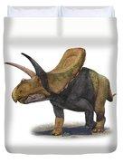 Torosaurus Latus, A Prehistoric Era Duvet Cover