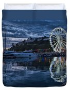 Torquay Marina And The Big Wheel Duvet Cover