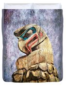 Totem Pole In The Pacific Northwest Duvet Cover