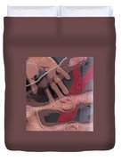 Touch And Red Zipper Duvet Cover