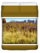 Touch Of Purple In October Duvet Cover