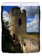 Tour Du Moulin At Chateau Chinon Duvet Cover