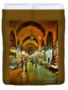 Tourists At The Grand Bazaar Duvet Cover