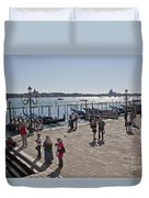 Tourists In Venice Duvet Cover