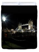 Tower Bridge And Riverside Night View  Duvet Cover