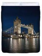 Tower Bridge Dusk Duvet Cover