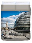 Tower Bridge With City Hall Duvet Cover