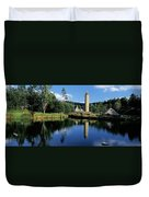 Tower Near A Lake, Round Tower, Ulster Duvet Cover