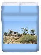Tower Of Beitin - Biblical Bethel Duvet Cover