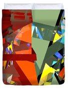 Tower Series 44 Tangerine Picnic Duvet Cover