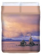 Towers Of Calcium Carbonate Called Tufa Duvet Cover