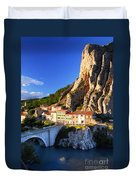 Town Of Sisteron In Provence France Duvet Cover
