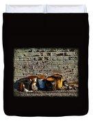 Toxic Alley Grunge Art Duvet Cover