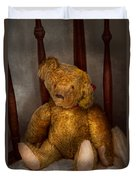 Toy - Teddy Bear - My Teddy Bear  Duvet Cover by Mike Savad