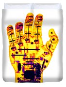 Toy Robotic Hand X-ray Duvet Cover
