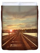 Tracks To Greatness Duvet Cover
