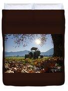 Tractor In Backlight Duvet Cover