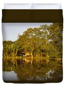 Traditional Amazon Village Duvet Cover