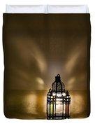 Traditional Lantern At Riad Dar Hanane Duvet Cover