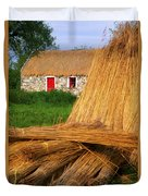 Traditional Thatching, Ireland Duvet Cover