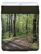 Trail Through Spring Forest Bavaria Duvet Cover