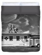 Trailer Town 2 Bw Duvet Cover