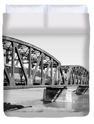 Train Across Bridge Duvet Cover