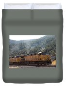 Train In Spanish Fork Canyon Duvet Cover