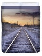 Train Tracks And Color 2 Duvet Cover