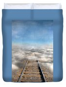 Train Tracks Into The Clouds Duvet Cover