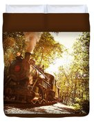 Trains A Coming Duvet Cover