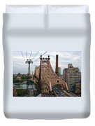 Tram View East Duvet Cover