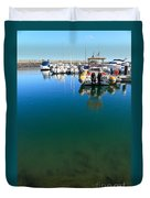 Tranquility At The Marina Duvet Cover