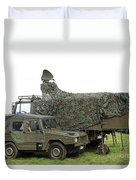 Transmission Troops Of The Belgian Army Duvet Cover