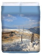 Travertine Limestone Terraces Duvet Cover
