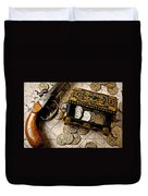 Treasure Box With Old Pistol Duvet Cover