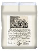 Treaty Between William Penn Duvet Cover