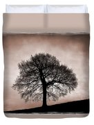 Tree Against A Stormy Sky Duvet Cover