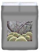 Tree And Barrel Cactus Duvet Cover