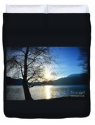 Tree And Lake Duvet Cover