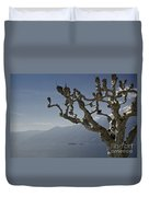 Tree And Mountain Duvet Cover