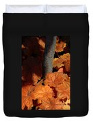 Tree And Pumpkin-like Leaves Duvet Cover