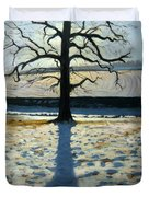 Tree And Shadow Calke Abbey Derbyshire Duvet Cover