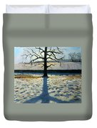 Tree And Shadow Calke Abbey Derbyshire Duvet Cover by Andrew Macara